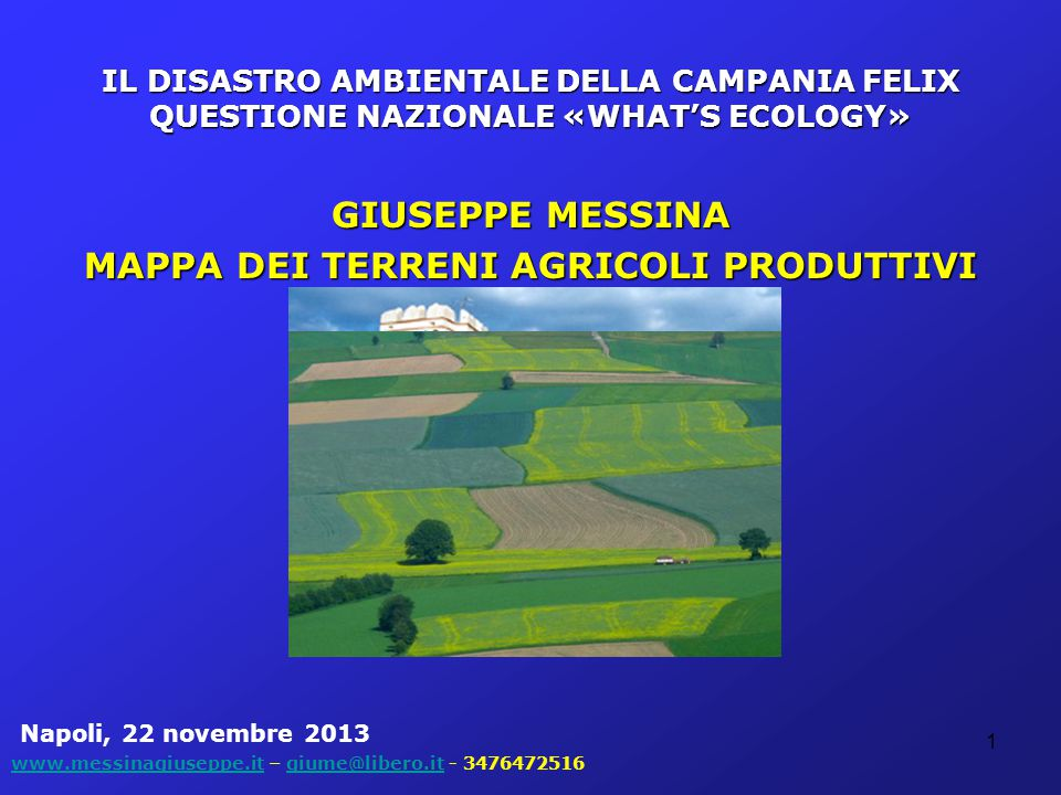 GIUSEPPE MESSINA LA CAMPANIA FA REGISTRARE LA DIMENSIONE AZIENDALE PIU' BASSA IN ITALIA: 4 Ha (da 2,5 Ha nel 2000) su 7,9 4 Ha (da 2,5 Ha nel 2000) su 7,9 UN'ELEVATA PRODUTTIVITA' PER ETTARO (+15,91%), OLTRE 4000 EURO, QUASI DOPPIA RISPETTO ALLA MEDIA NAZIONALE (€ 2.140,00) UN'ELEVATA PRODUTTIVITA' PER ETTARO (+15,91%), OLTRE 4000 EURO, QUASI DOPPIA RISPETTO ALLA MEDIA NAZIONALE (€ 2.140,00)