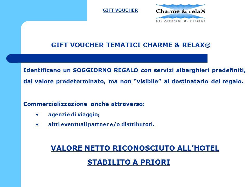 Il costo del Gift Voucher è diverso dal valore del soggiorno.
