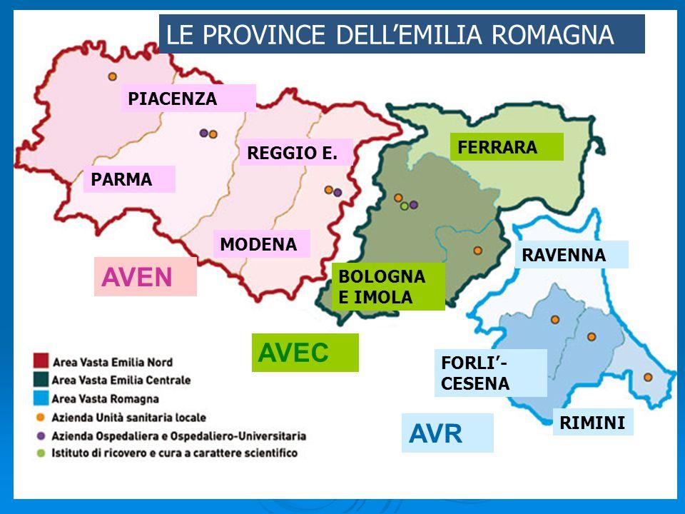 Le province dell'Emilia Romagna PIACENZA PARMA REGGIO E.
