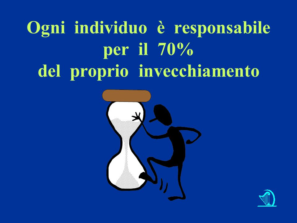 Ogni individuo è responsabile per il 70% del proprio invecchiamento