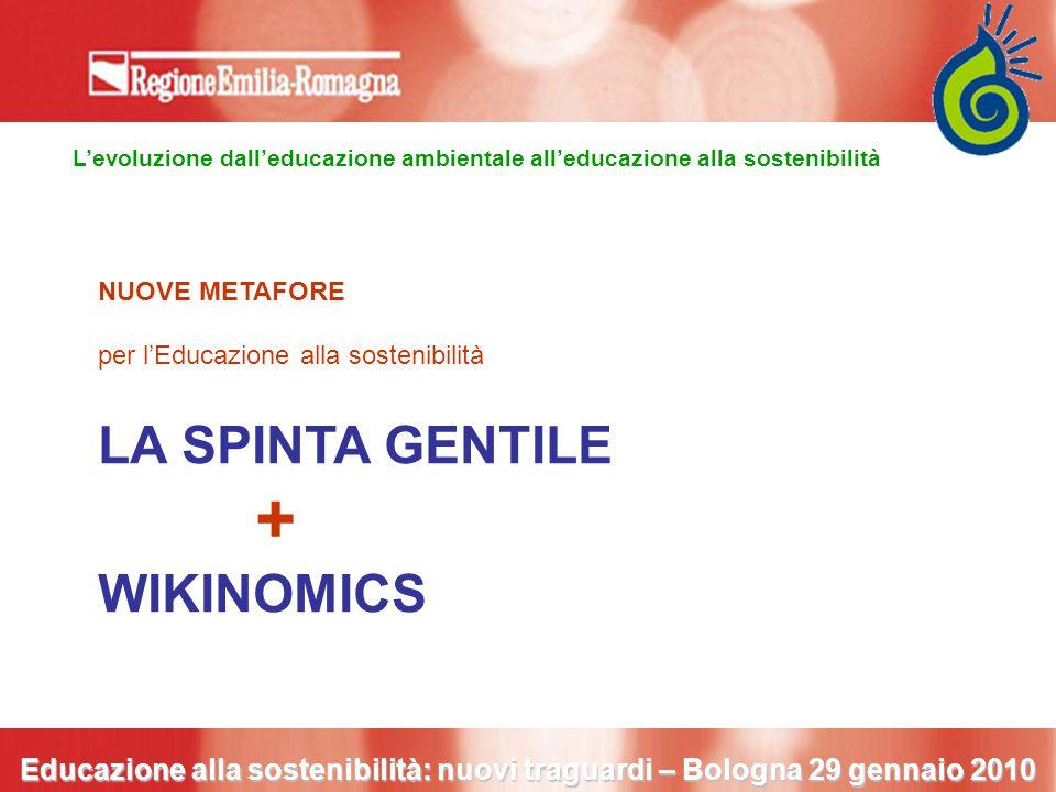 L'evoluzione dall'educazione ambientale all'educazione alla sostenibilità Educazione alla sostenibilità: nuovi traguardi – Bologna 29 gennaio 2010 NUO