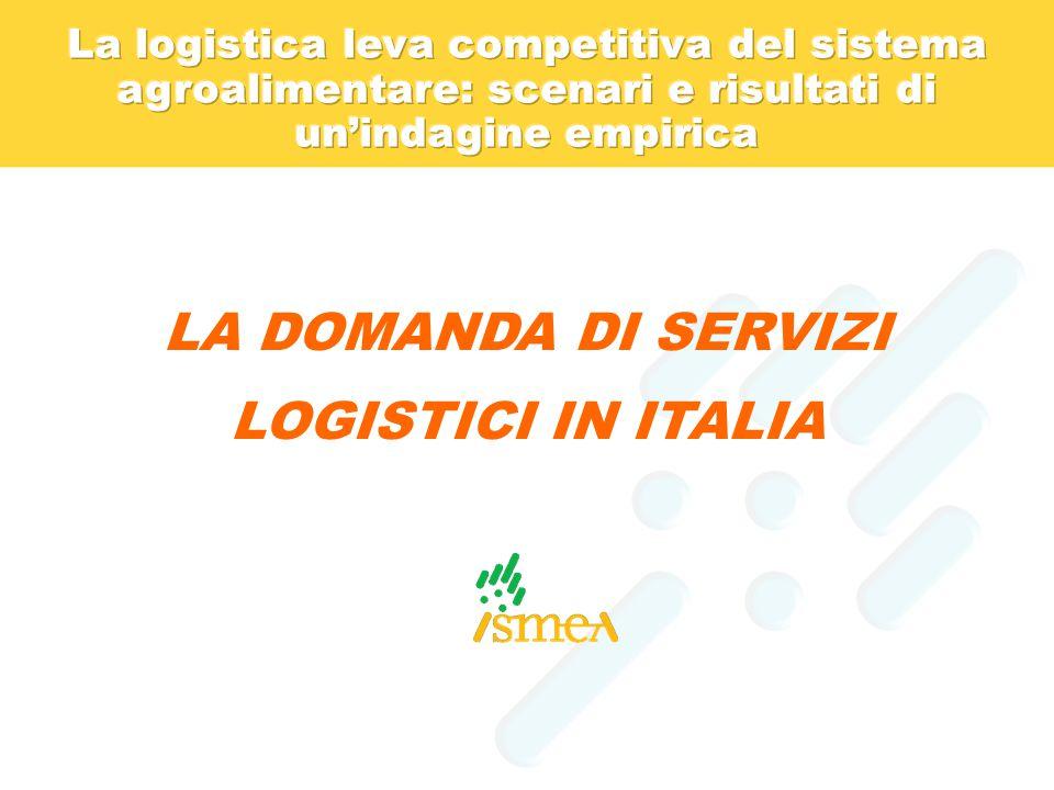 LA DOMANDA DI SERVIZI LOGISTICI IN ITALIA
