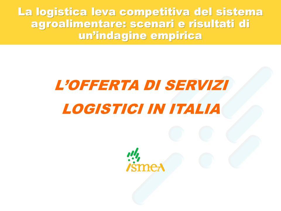 L'OFFERTA DI SERVIZI LOGISTICI IN ITALIA