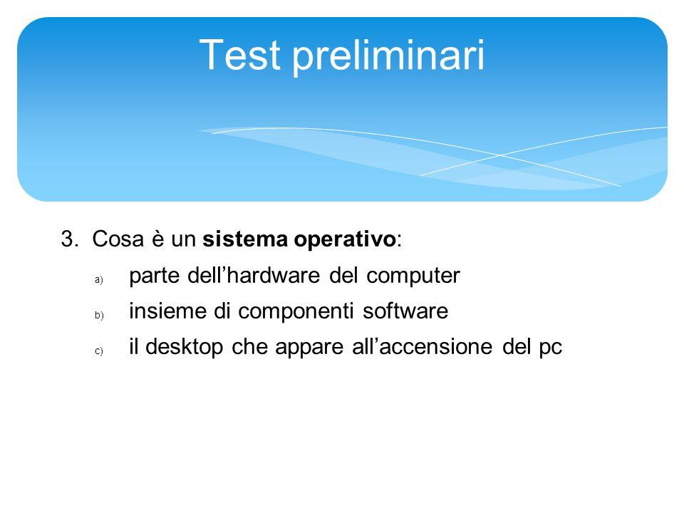 Test preliminari 3.