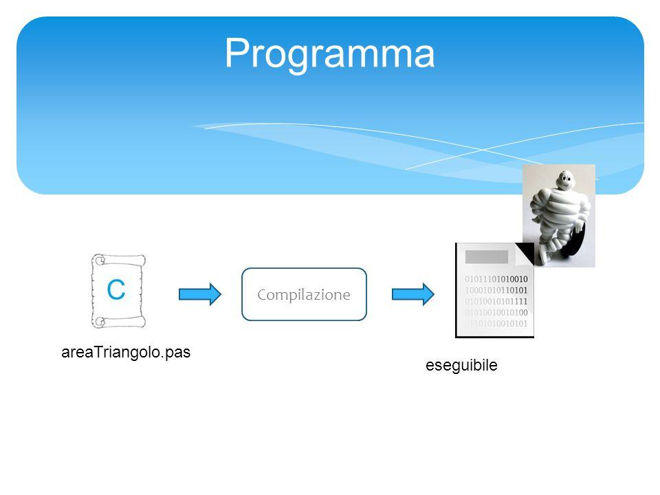 Programma Compilazione areaTriangolo.pas eseguibile
