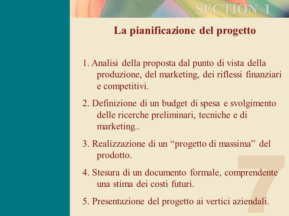 7 La pianificazione del progetto 1.