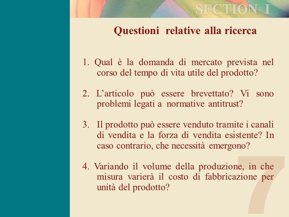 7 Questioni relative alla ricerca 1.