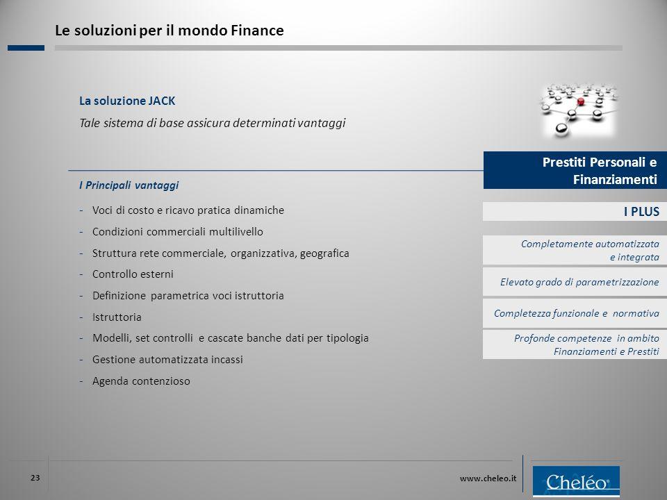 www.cheleo.it 23 I PLUS I Principali vantaggi ‐ Voci di costo e ricavo pratica dinamiche ‐ Condizioni commerciali multilivello ‐ Struttura rete commer
