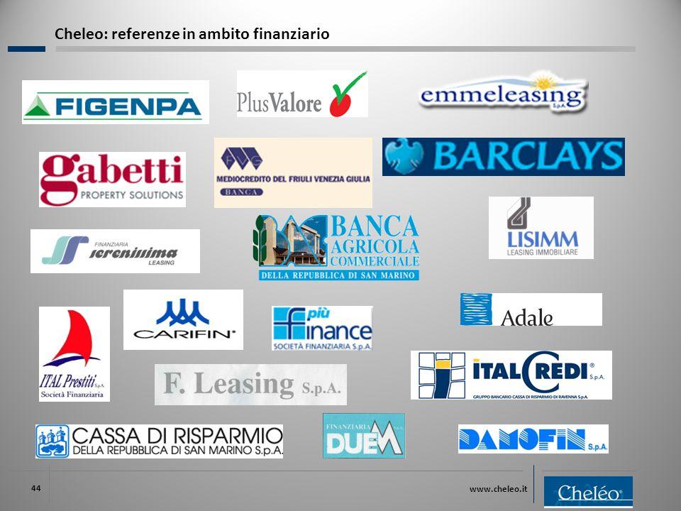www.cheleo.it 44 Cheleo: referenze in ambito finanziario