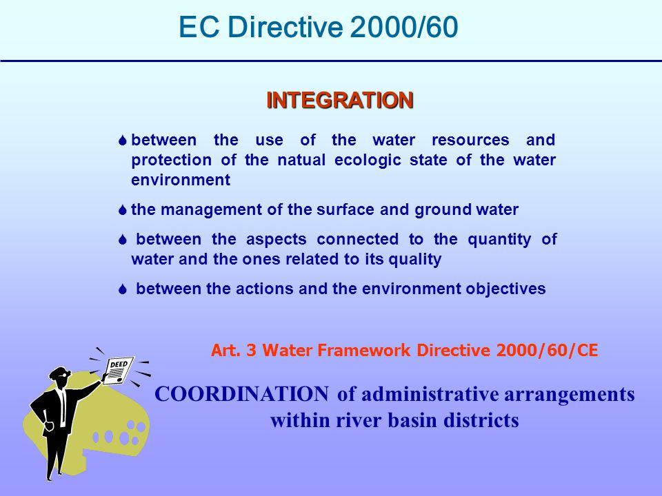Piani di gestione e Programmi di misure adeguate per ciascun distretto (definiti ed adottati in modo integrato e coordinato) Autorizzazione preventiva e controllo di tutti gli scarichi nelle acque superficiali (artt.