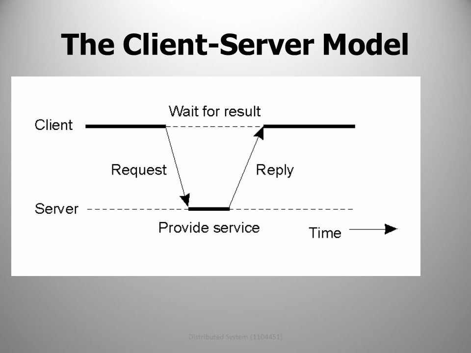 Distributed System (1104451)11 The Client-Server Model