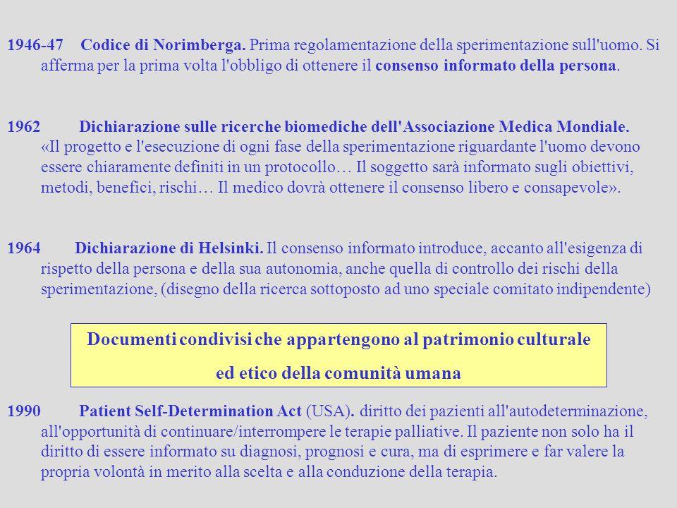 Letteratura scientifica Linee guida, protocolli Ricerca Analisi statistiche… Unicità bio-psico-sociale complessa dell individuo (la Persona come «paradigma della complessità») Aspetti esistenziali, narrativi, interpretativi, psicologici, spirituali, socio-antropologici… Bertini 2014