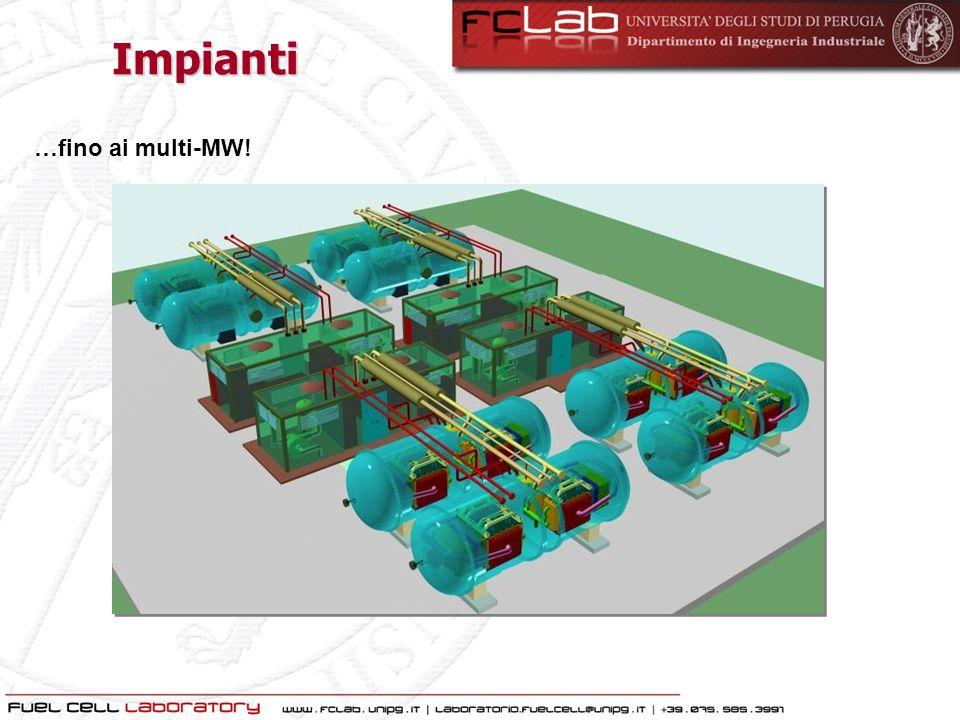 Cattura della CO 2 da Impianti di Media Scala Generazione distribuita: TAG, ICE, FC Predominanza di ICE (gas, diesel) sulle TAG per impianti con P el < 5 MW e  [ Hendrinks et.