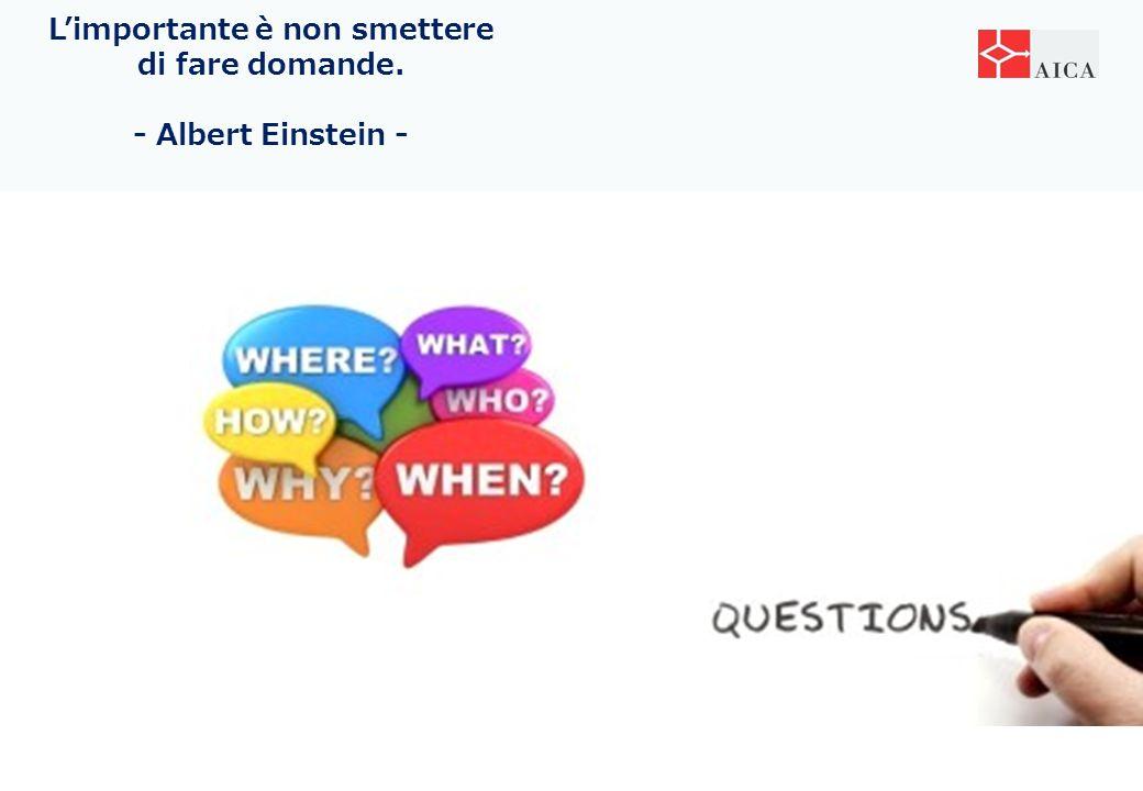 L'importante è non smettere di fare domande. - Albert Einstein -