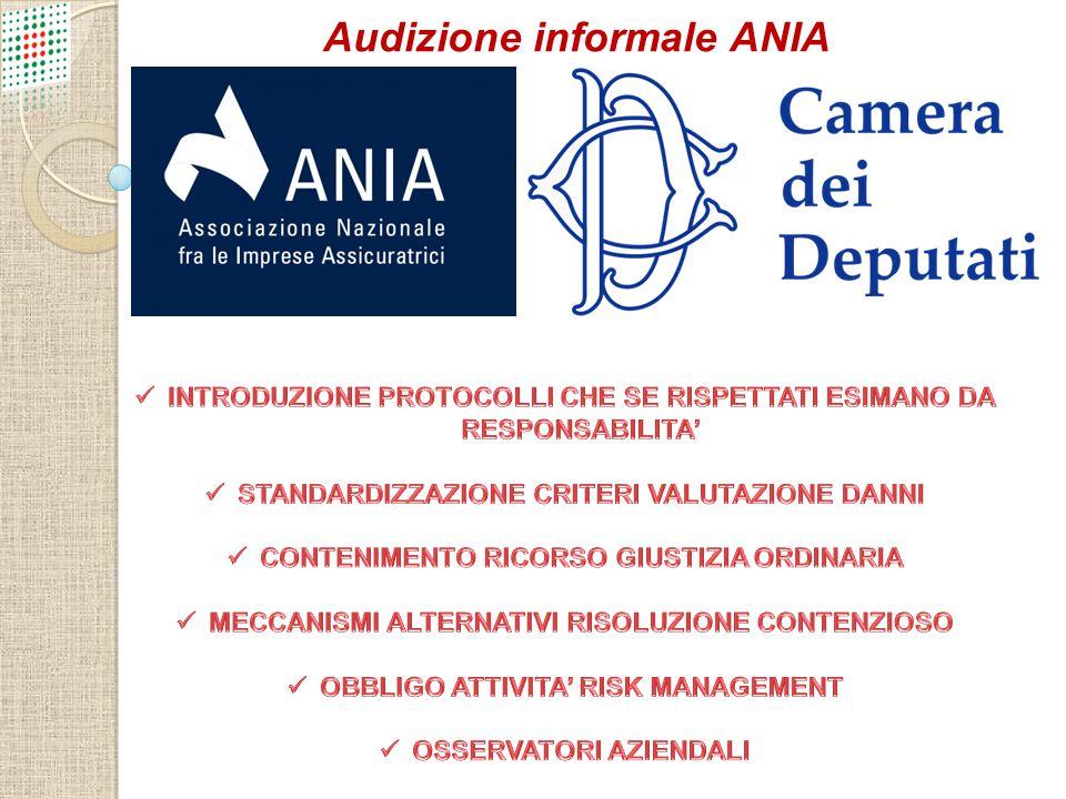 Audizione informale ANIA