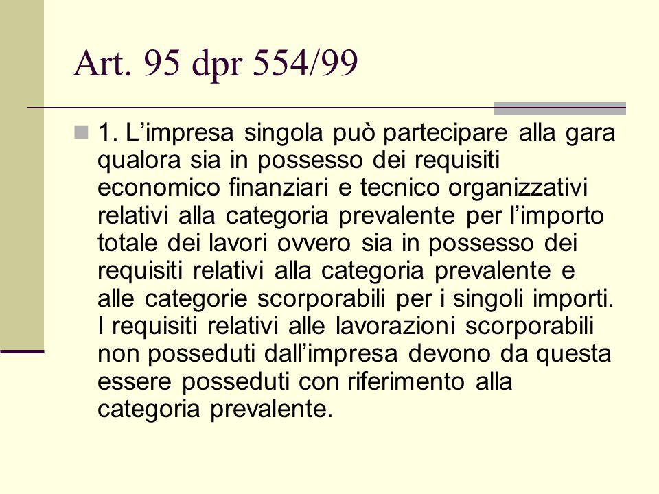 Art. 95 dpr 554/99 1.