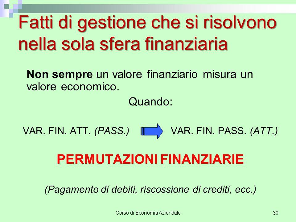 Corso di Economia Aziendale 31 Operazione Asp.finanziario Asp.