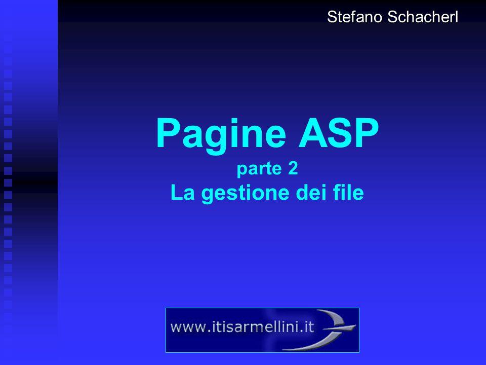 2 Esempio: un contatore di accessi L utilizzo delle pagine ASP è quasi sempre basato sulla gestione dei File e dei DataBase.