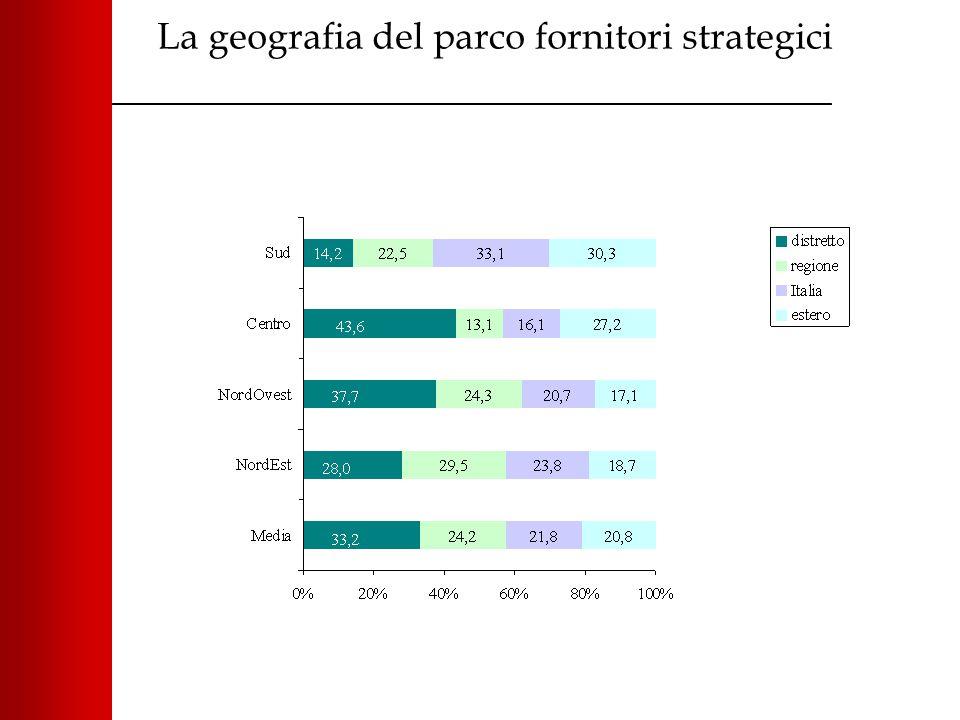 La geografia del parco fornitori strategici