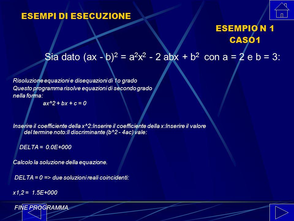 LISTATO N 2 PARTE V (* Stampa dei messaggio di chiusura *) WRITELN; WRITELN(ANSWER6); (* Risultato equazione *) END.
