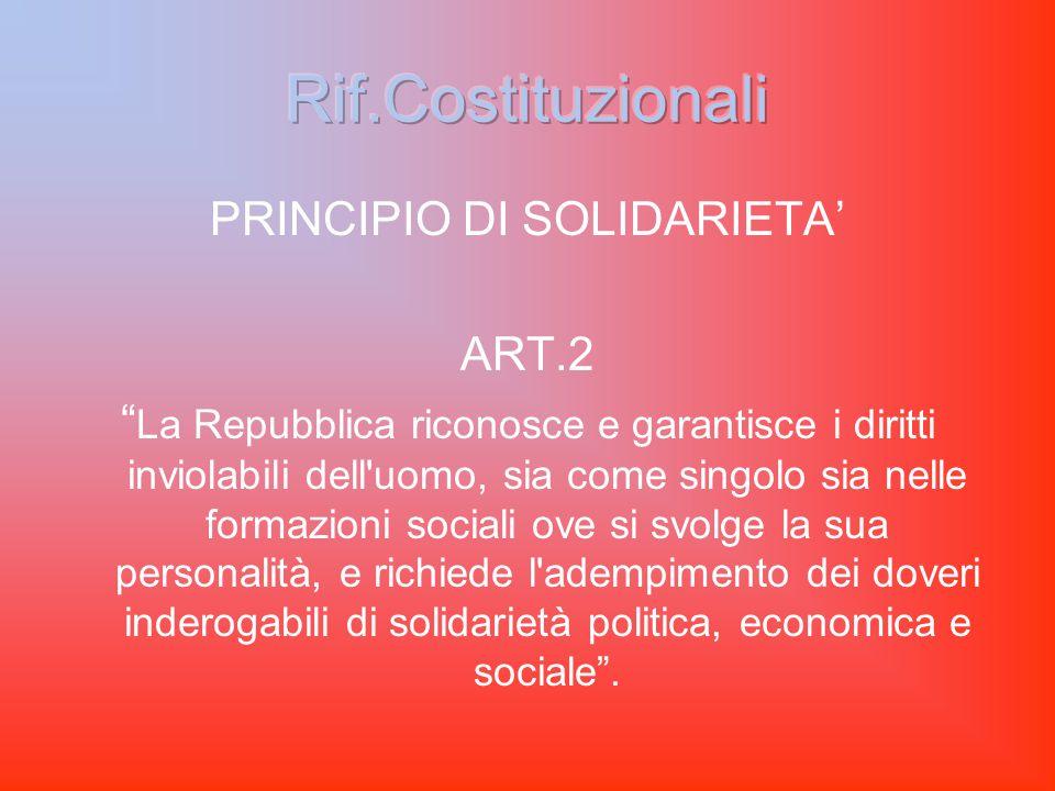 IMPERATIVO DI PEREQUAZIONE ECONOMICA ART.