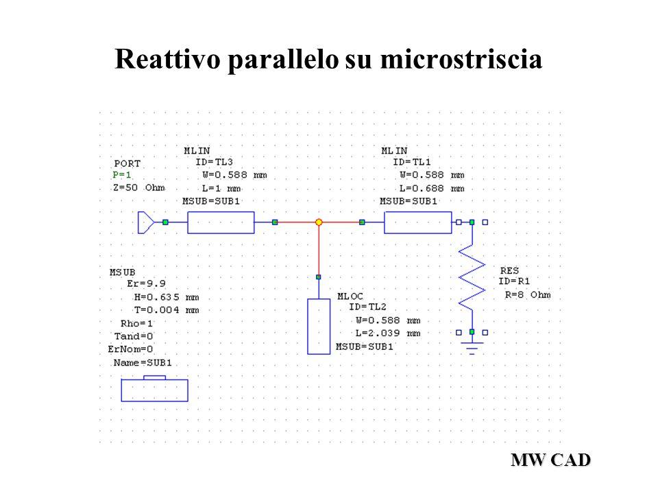 MW CAD Reattivo parallelo su microstriscia
