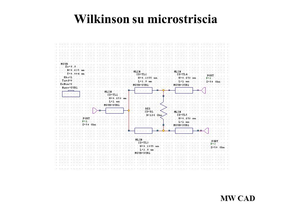 MW CAD Wilkinson su microstriscia