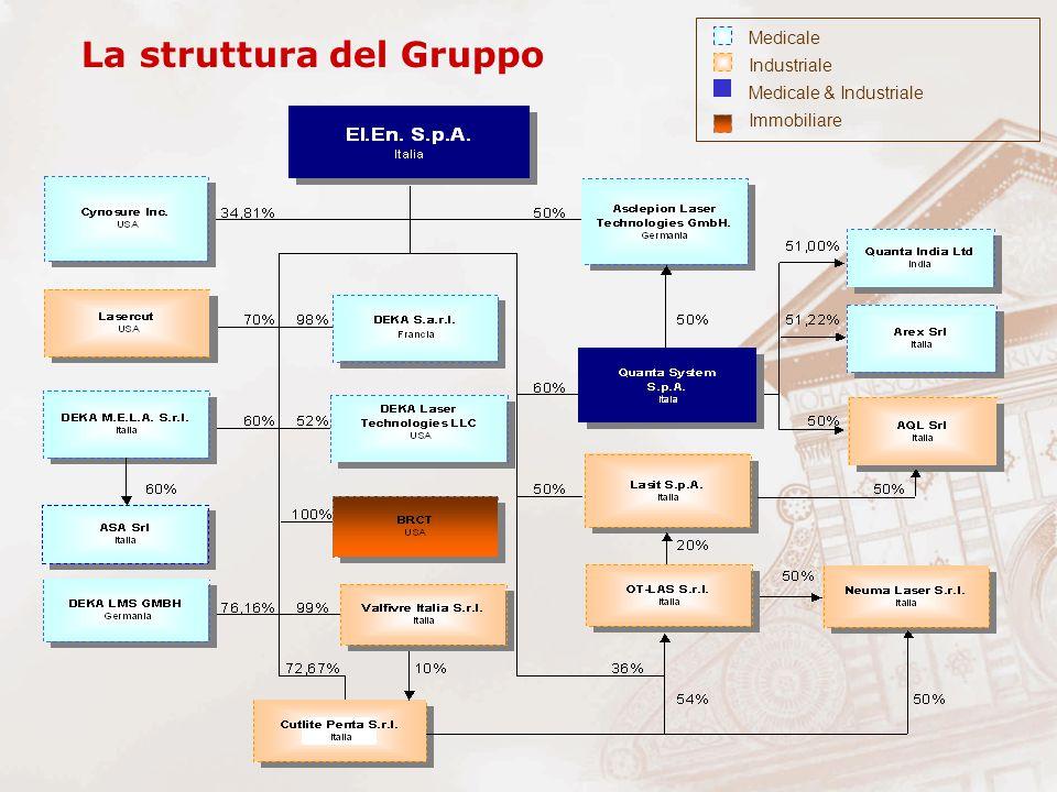 La struttura del Gruppo Medicale Industriale Medicale & Industriale Immobiliare