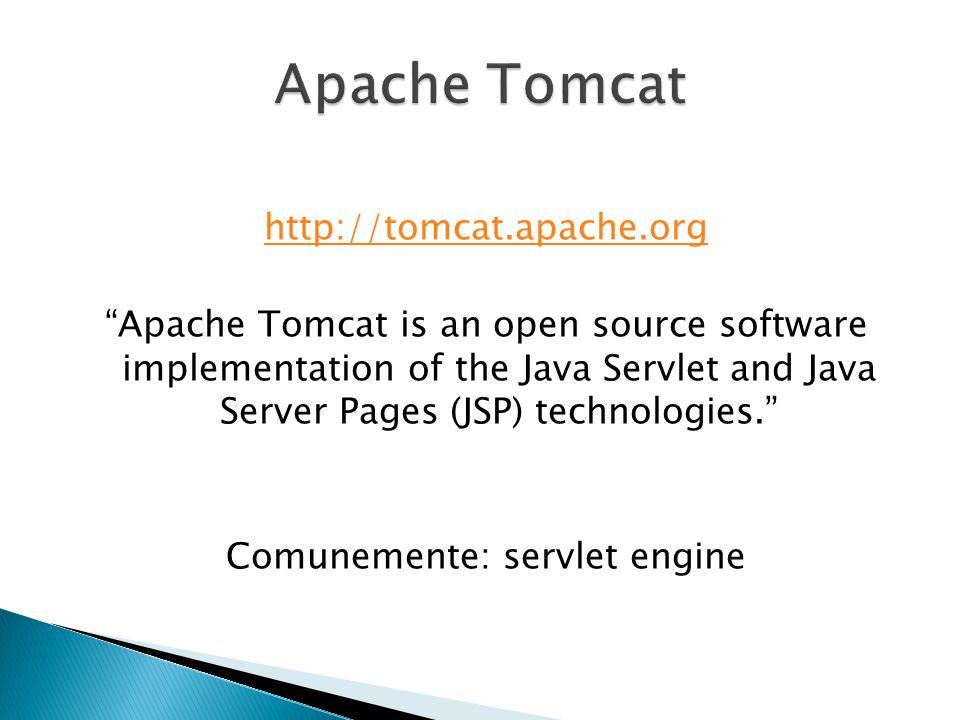 Inizialmente sviluppato da Sun Microsystem In seguito Open Source Licenza Apache Interamente programmato in Java