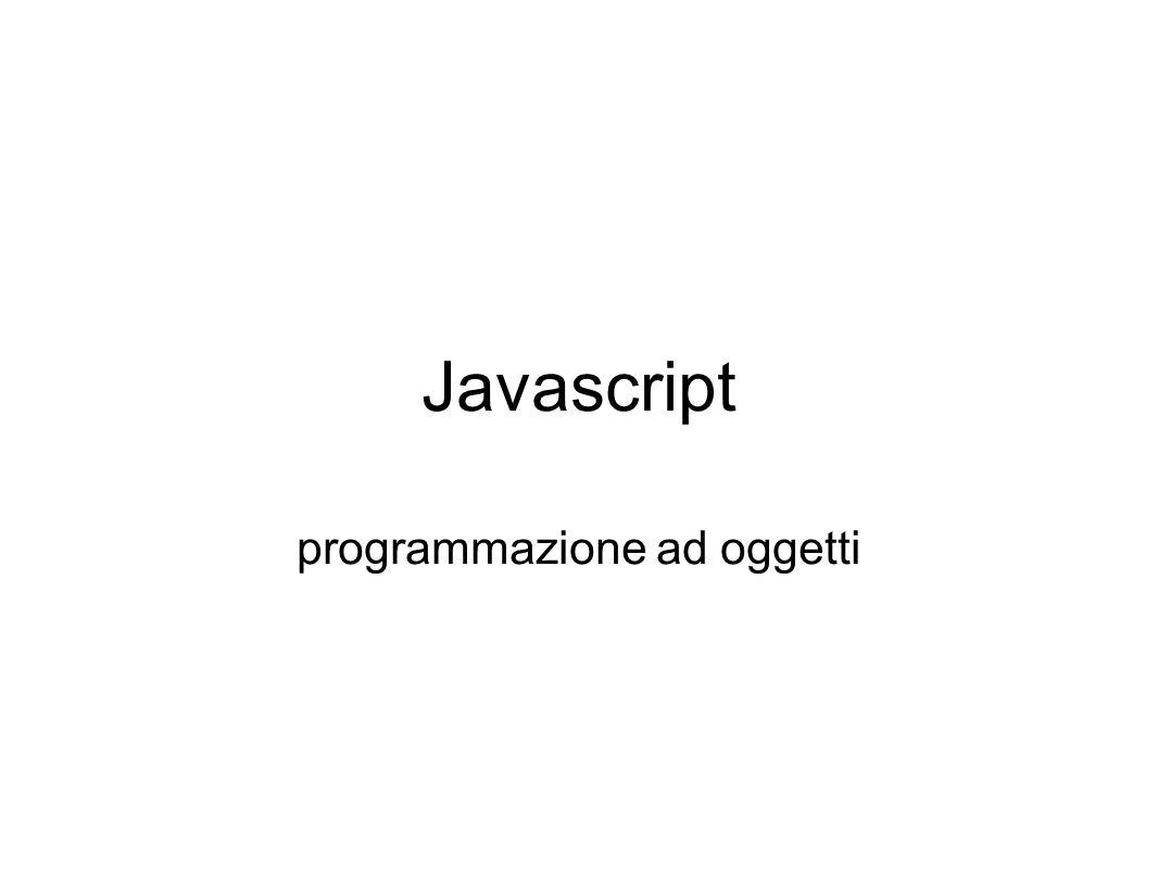 Javascript programmazione ad oggetti