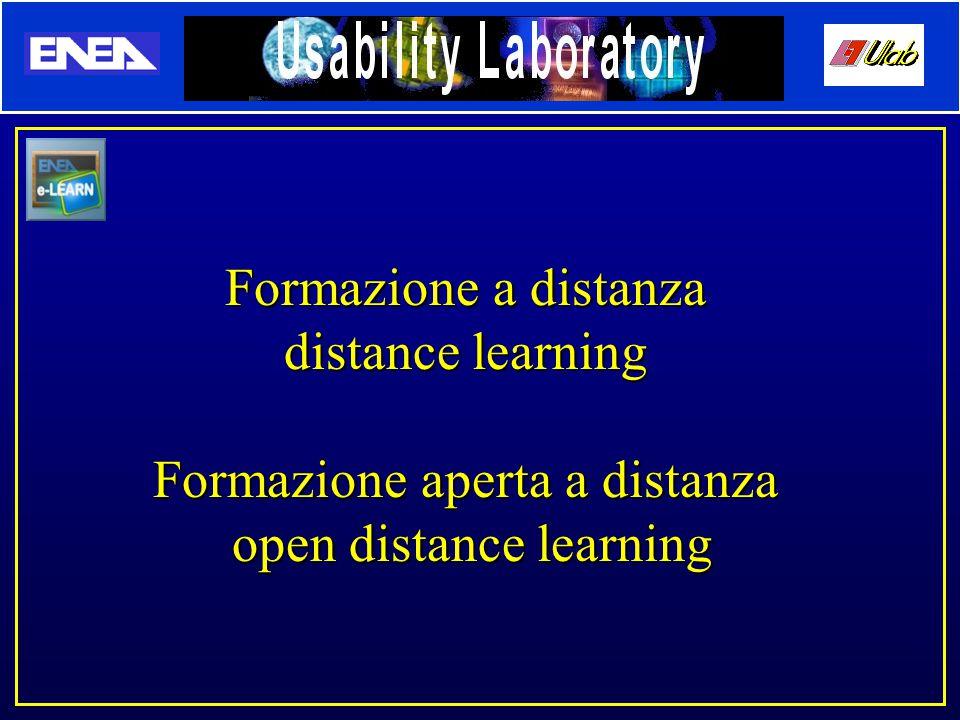 Formazione a distanza distance learning Formazione aperta a distanza open distance learning