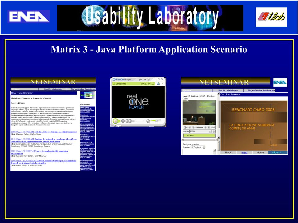 Matrix 3 - Java Platform Application Scenario
