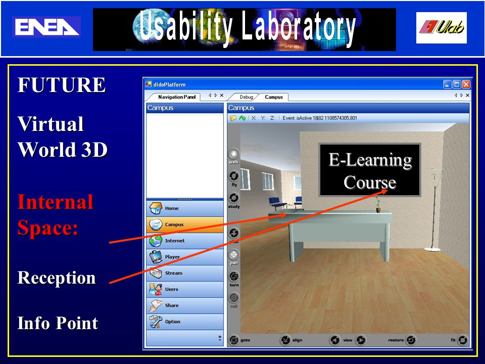 FUTURE Virtual World 3D Internal Space: Reception Info Point E-Learning Course