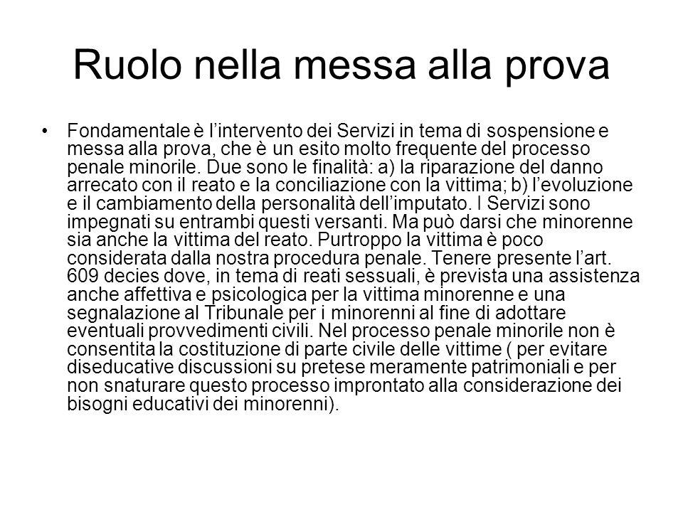I Servizi e il procedimento civile Rapporti tra Servizi e i vari organi giudiziari civili ( T.M.; G.T.; T.O; C.A.)