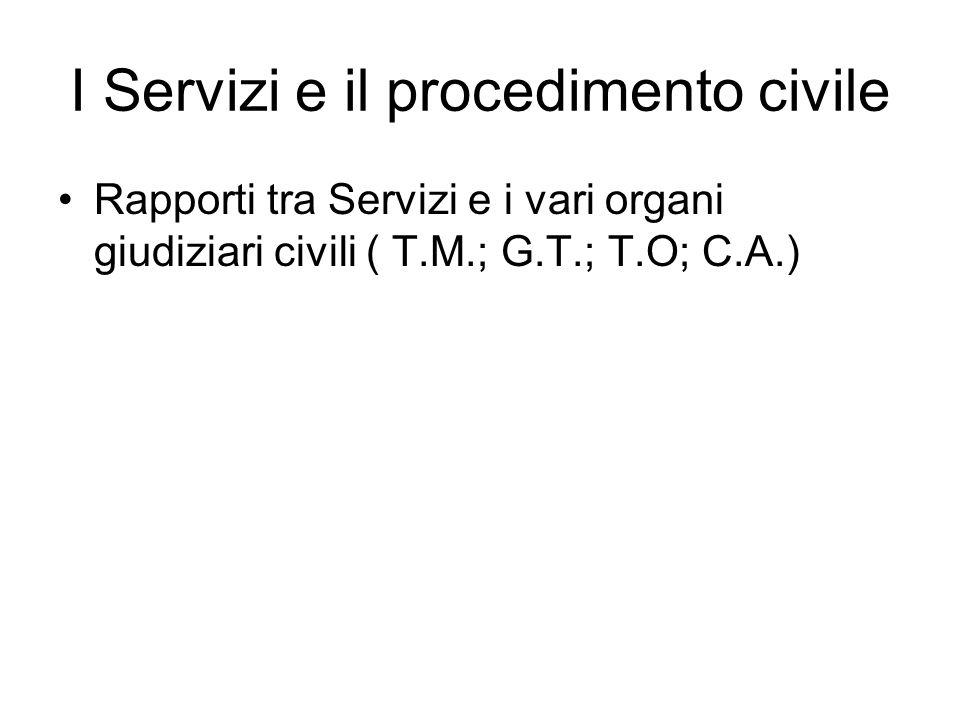 A) I Servizi e il Tribunale per i Minorenni.A1) Prima dell'inizio del procedimento.