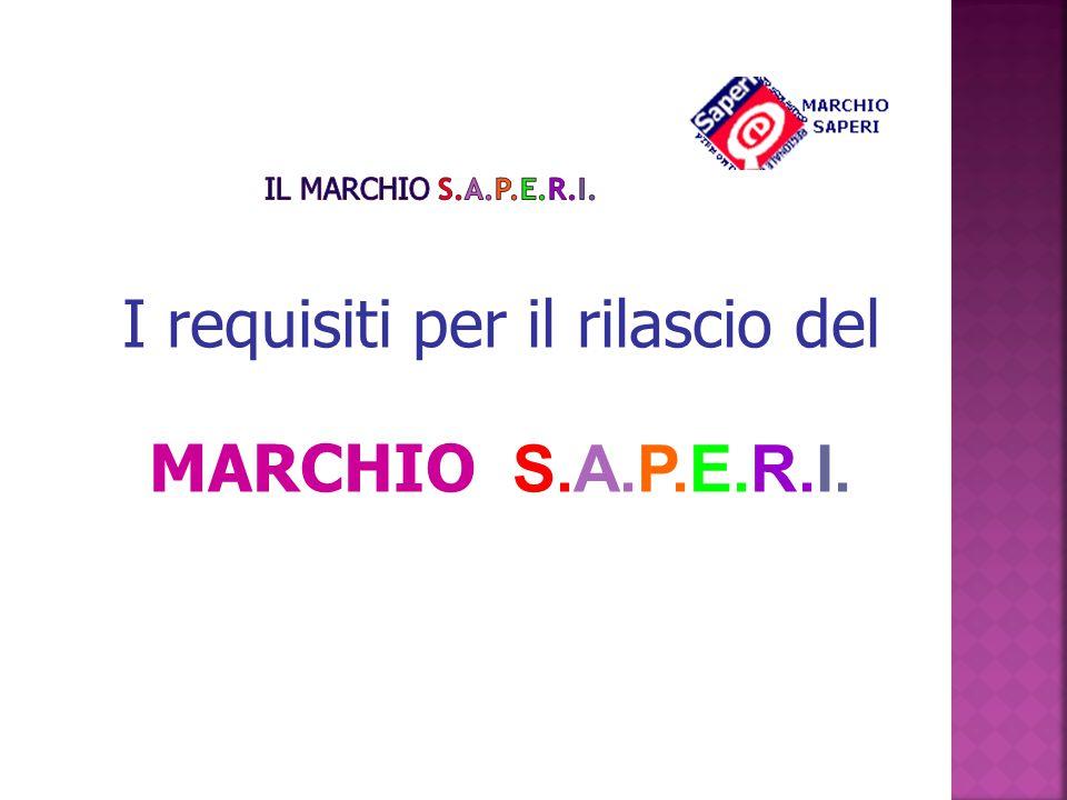 I requisiti per il rilascio del MARCHIO S.A.P.E.R.I.