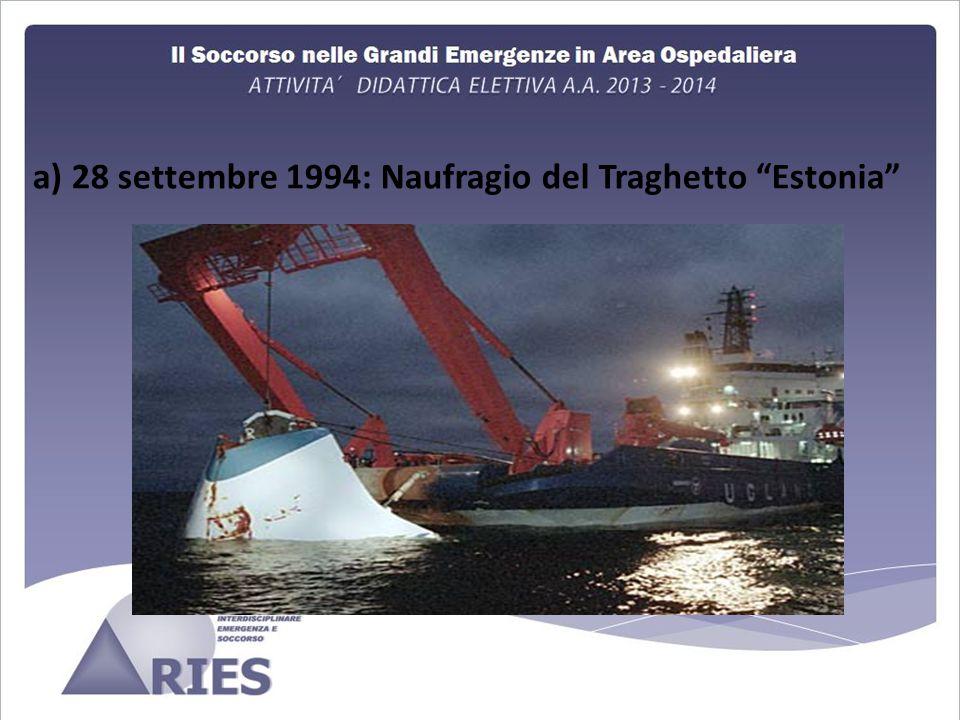 a) 28 settembre 1994: Naufragio del Traghetto Estonia