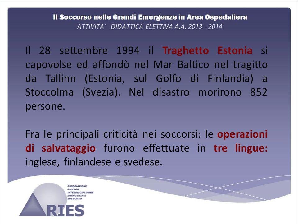 Il 28 settembre 1994 il Traghetto Estonia si capovolse ed affondò nel Mar Baltico nel tragitto da Tallinn (Estonia, sul Golfo di Finlandia) a Stoccolma (Svezia).
