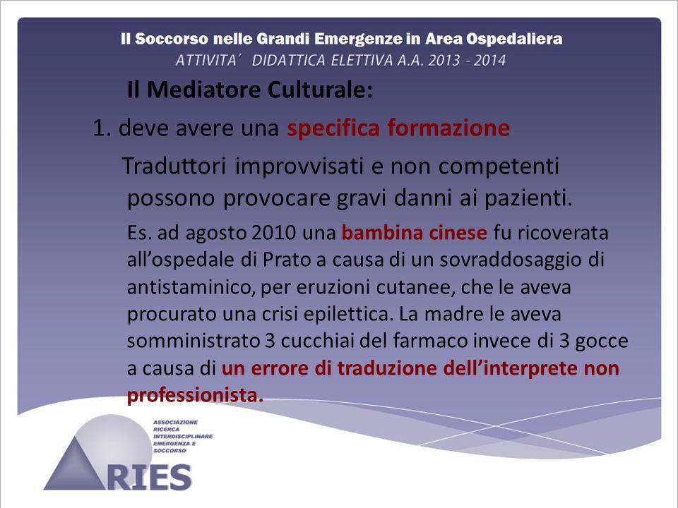Il Mediatore Culturale: 1.