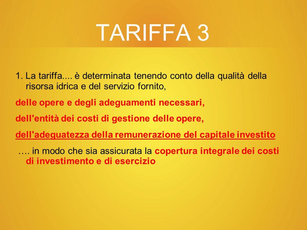 TARIFFA 3 1.La tariffa....
