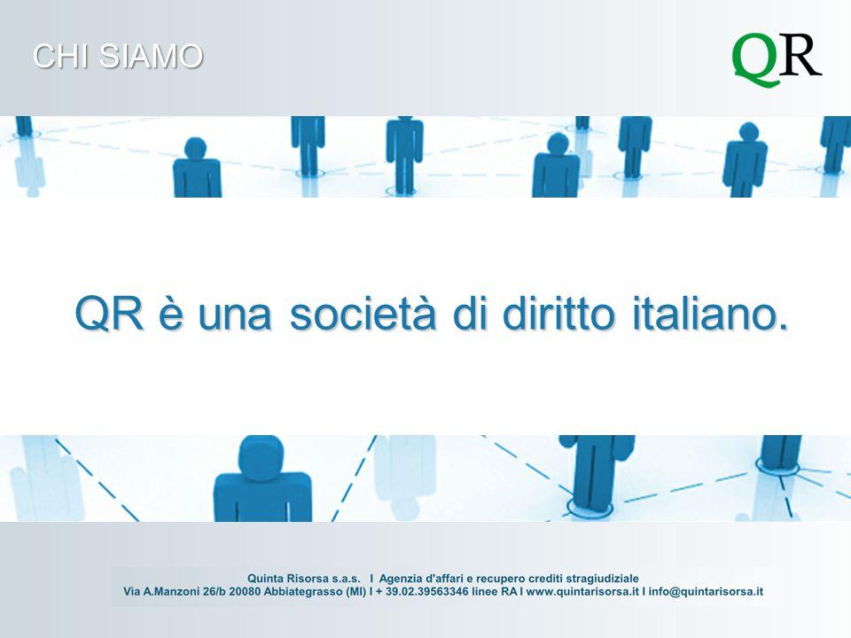 CHI SIAMO QR è una società di diritto italiano.