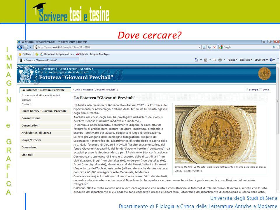 Università degli Studi di Siena Dipartimento di Filologia e Critica delle Letterature Antiche e Moderne IMMAGINIIMMAGINI e e GRAFICA GRAFICAIMMAGINIIM
