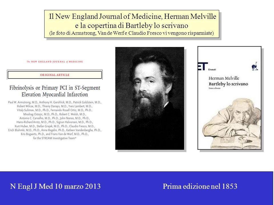 Il New England Journal of Medicine, Herman Melville e la copertina di Bartleby lo scrivano (le foto di Armstrong, Van de Werf e Claudio Fresco vi veng