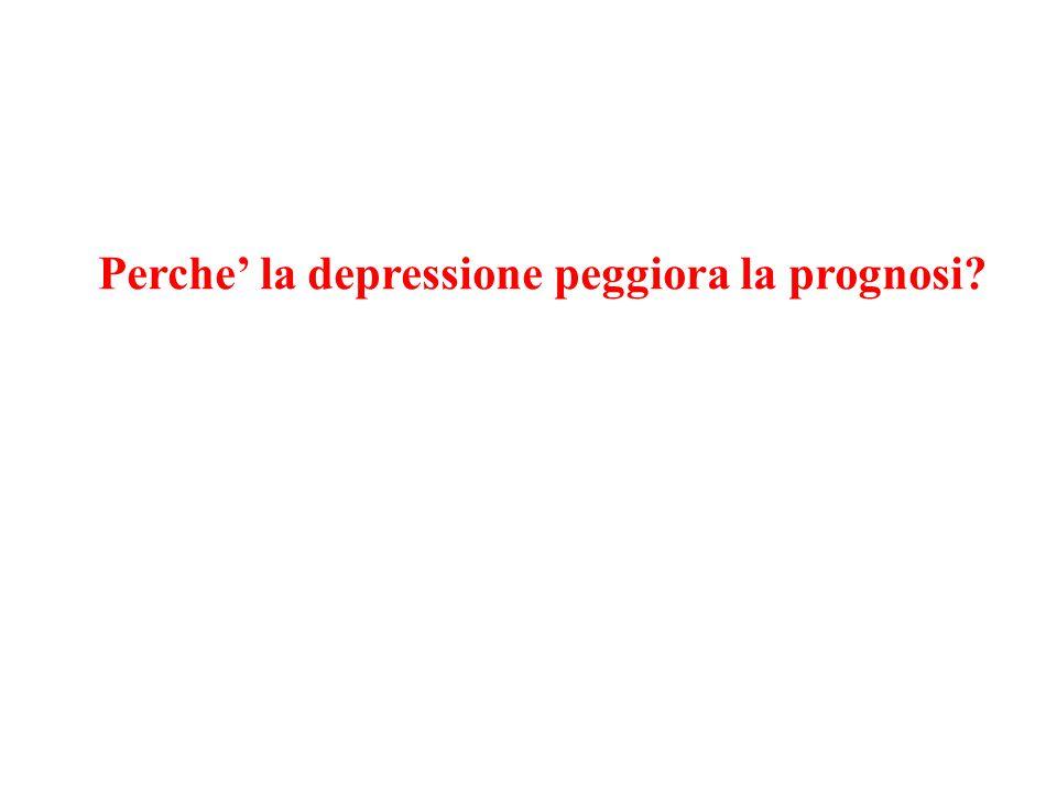 Perche' la depressione peggiora la prognosi?