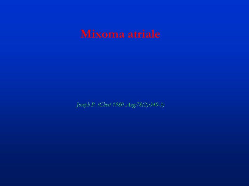 Mixoma atriale Joseph P. (Chest 1980 Aug;78(2):340-3)