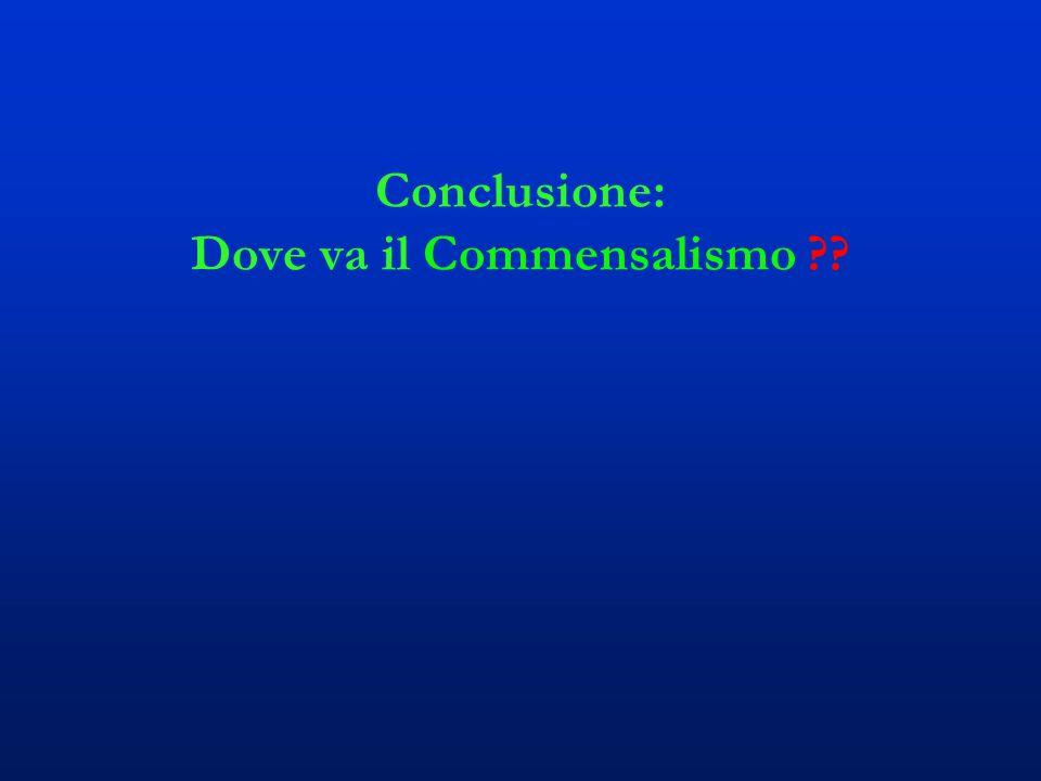 Conclusione: Dove va il Commensalismo ??