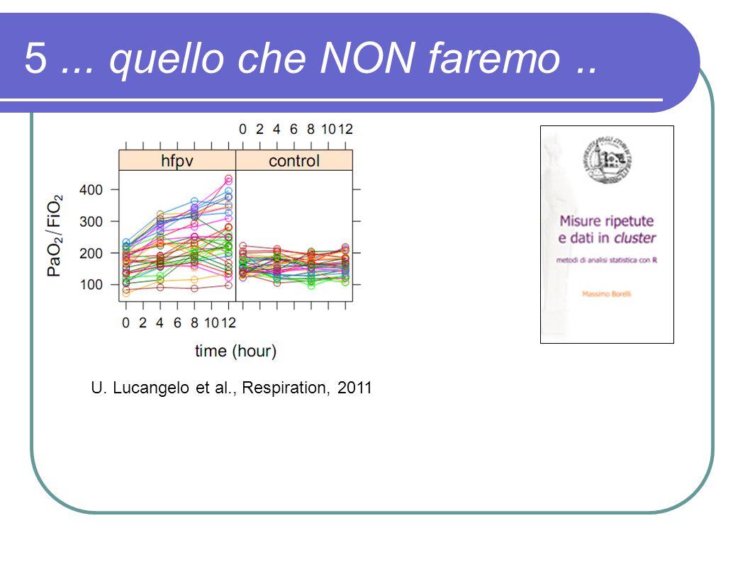 5... quello che NON faremo.. U. Lucangelo et al., Respiration, 2011