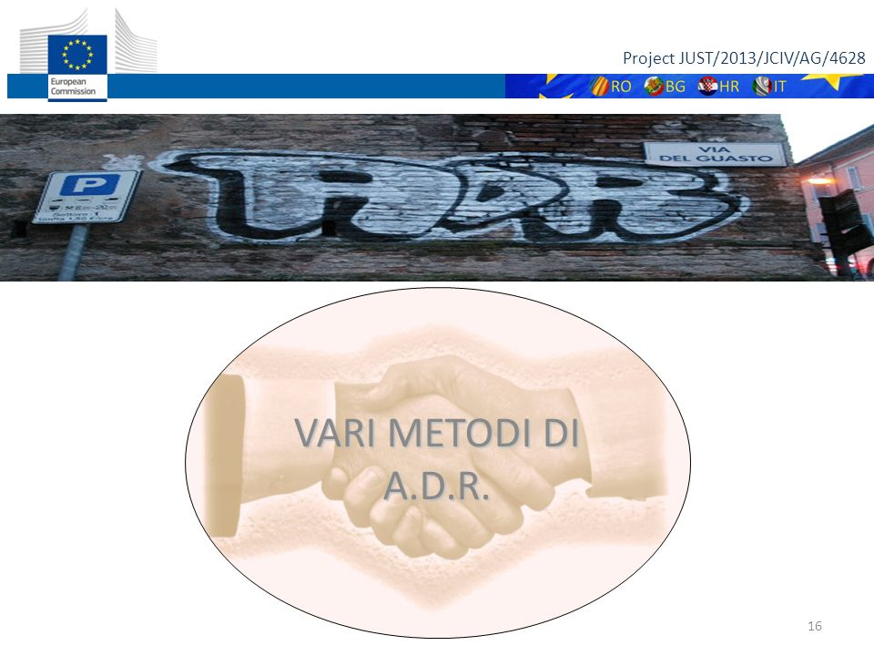 Project JUST/2013/JCIV/AG/4628 16 VARI METODI DI A.D.R.