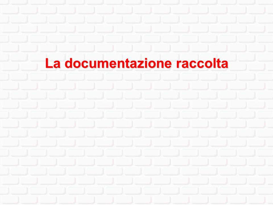 La documentazione raccolta