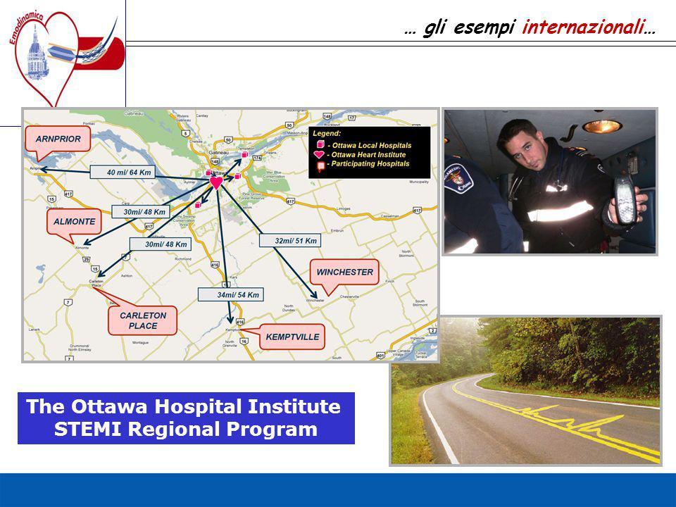 The Ottawa Hospital Institute STEMI Regional Program … gli esempi internazionali…